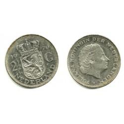 (191) Países Bajos. 1970. 2 ½ Gulden (EBC)