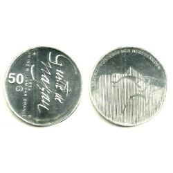 (208) Países Bajos. 1984. 50 Gulden (EBC) (Plata)