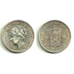 (160) Países Bajos. 1929. ½ Gulden (MBC) (Plata)