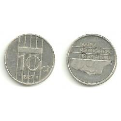 Países Bajos. 1987. 10 Cents (MBC)