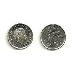 (205) Países Bajos. 1980. 10 Cents (MBC)