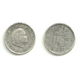 (182) Países Bajos. 1972. 10 Cents (MBC)