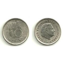 (182) Países Bajos. 1965. 10 Cents (MBC)