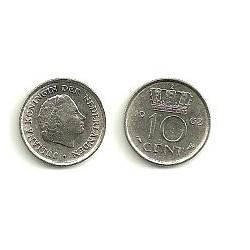 (203) Países Bajos. 1962. 10 Cents (MBC)