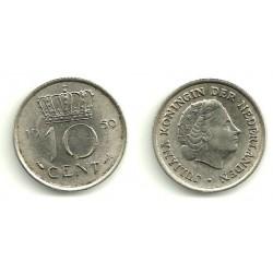 (182) Países Bajos. 1959. 10 Cents (MBC)