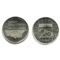 (204) Países Bajos. 1985. 25 Cents (SC)