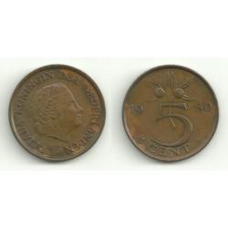 (181) Países Bajos. 1980. 5 Cents (EBC)