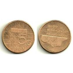 (210) Países Bajos. 1989. 5 Gulden (MBC)