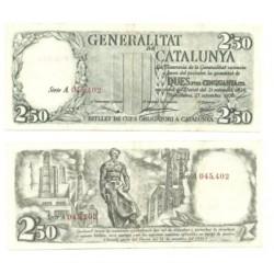 [1936] Billete de 2.50 Pesetas (EBC). Serie A (Rojo).
