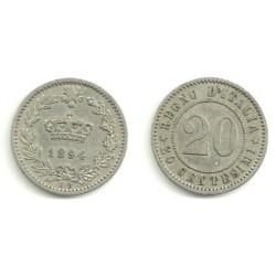 (28.1) Italia. 1894 KB. 20 Centesimi (BC)