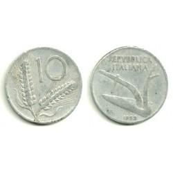 (93) Italia. 1953(R). 10 Lira (RC)