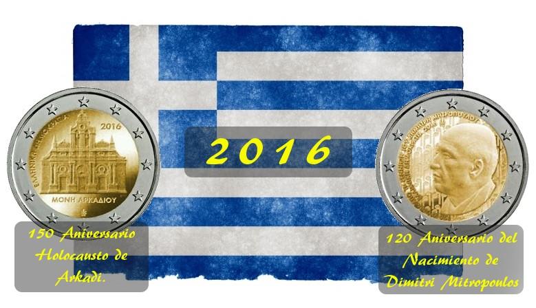 GRECIA 2 EURO CONMEMRATIVOS