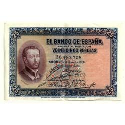 [1926] Billete de 25 Pesetas (EBC). Serie B.