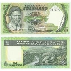 (9.b) Suazilandia. 1984. 5 Emalangeni (SC)