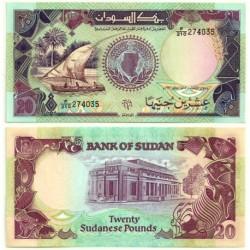 (47) Sudán. 1991. 20 Pounds (SC)