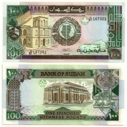 (44) Sudán. 1989. 100 Pounds (SC)