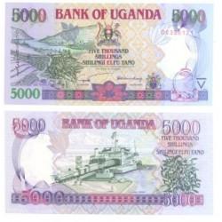 (41.a) Uganda. 2002. 5000 Shillings (SC)