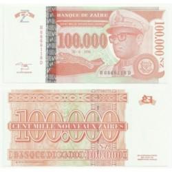 (76) Zaire. 1996. 100000 Noveaux Zaires (SC)