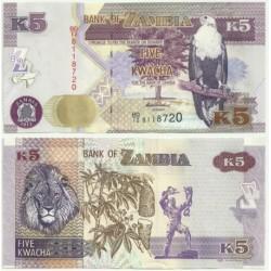 Zambia. 2012. 5 Kwacha (SC)