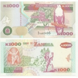 (40a) Zambia. 1992. 1000 Kwacha (SC)