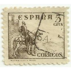 (816A)  1937-40. 5 Céntimos. Cid (Usado)