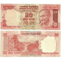 India. 2010. 20 Rupees (SC)