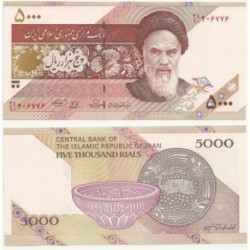 Irán. 5000 Rials (SC)
