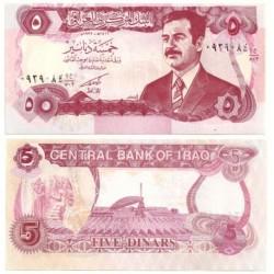 (80) Iraq. 1992. 5 Dinars (SC)