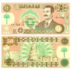 (75) Iraq. 1991. 50 Dinars (SC)