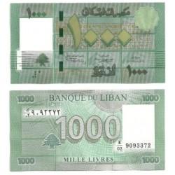(90a) Líbano. 2011. 1000 Livres (SC)