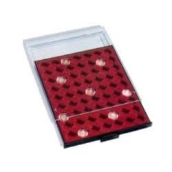 Bandeja para monedas con cápsulas de 24,50 mm