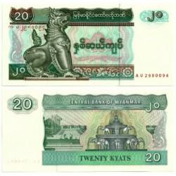 (72) Myanmar. 1994. 20 Kyats (SC)