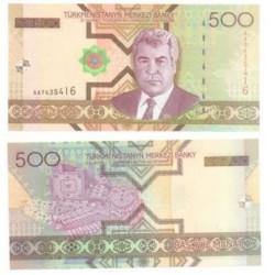(18) Turkmenistán. 2005. 500 Manat (SC)