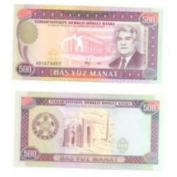 (7.b) Turkmenistán. 1995. 500 Manat (SC)