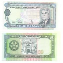 (4.a) Turkmenistán. 1993. 20 Manat (SC)