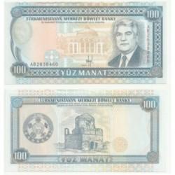 (6.a) Turkmenistán. 1993. 100 Manat (SC)