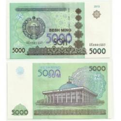 Uzbekistán. 2013. 5000 Som (SC)