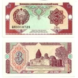 (74) Uzbekistán. 1994. 3 Sum (SC)