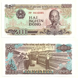 (107a) Vietnam. 1988. 2000 Dong (SC)