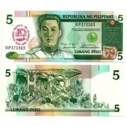 (177a) Filipinas. 1989. 5 Piso (SC)