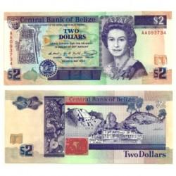 (52a) Belice. 1990. 2 Dollars (SC)