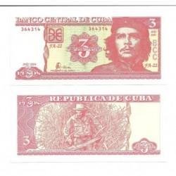 (123) Cuba. 2004. 3 Pesos (SC)