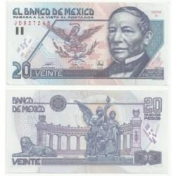 (100) Estados Unidos Mexicanos. 1992. 20 Nuevos Pesos (SC)