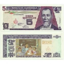 (88b) Guatemala. 1995. 5 Quetzales (SC)