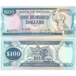 (28) Guyana. 1989. 100 Dollars (SC)