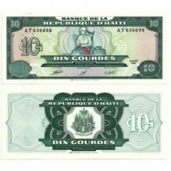 (256) Haití. 1991. 10 Gourdes (SC)