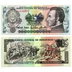 (63c) Honduras. 1993. 5 Lempiras (SC)