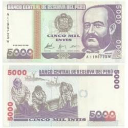 (137/9) Perú. 1988. 5000 Intis (SC)