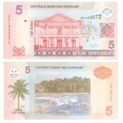 (66) Surinam. 2004. 5 Dollar (SC)