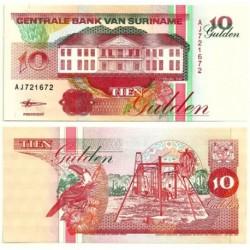 (137b) Surinam. 1998. 10 Gulden (SC)
